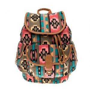 etnik desenli sırt çantası