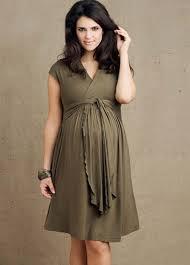 V yaka hamile elbisesi