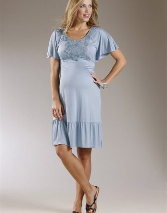 fırfırlı hamile elbisesi