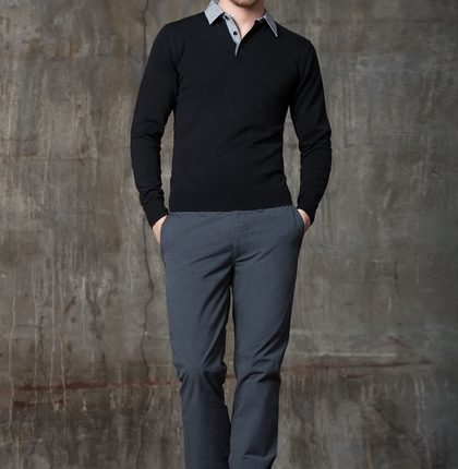 gri erkek pantolon kombini