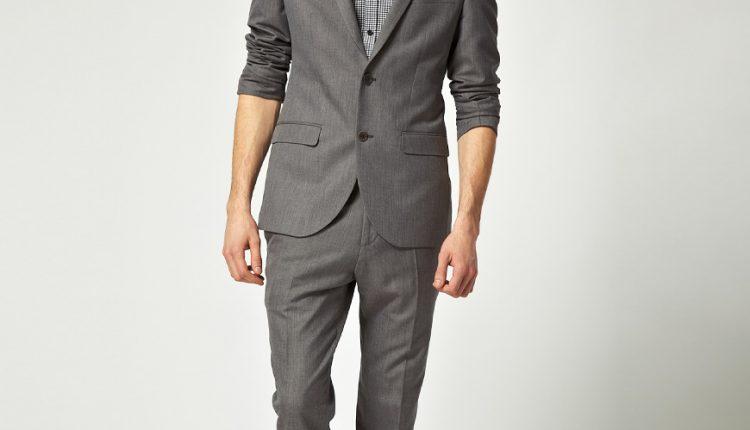 gri takım elbise