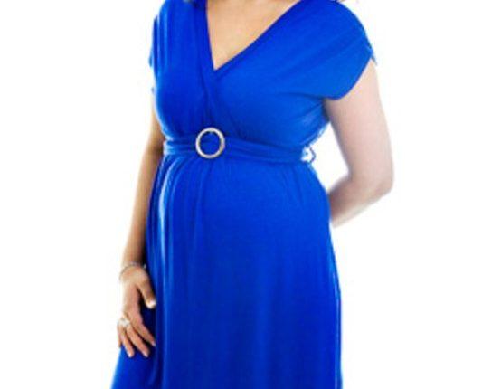 kısa kollu hamile elbisesi