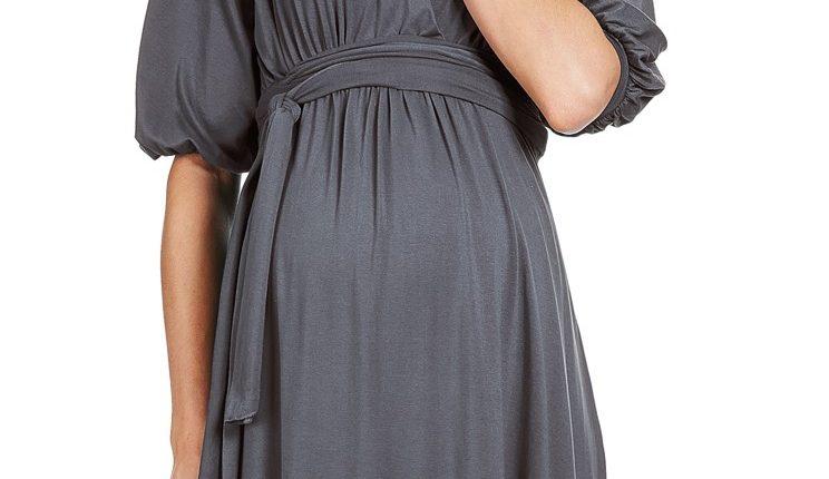 yarım kol hamile elbisesi