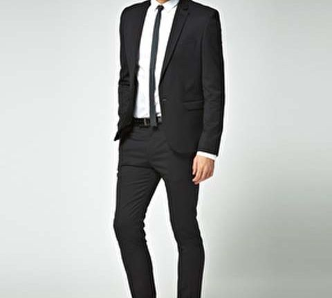 dc169238164e2 dar kesim siyah takım elbise – Binkelam