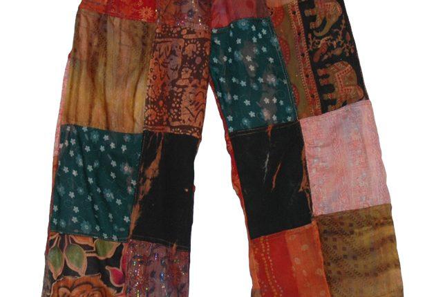 bohem tarzı patchwork pantolon