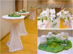 masa süsleme fikirleri - yeşil beyaz