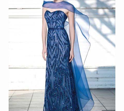 mavi abiye elbise-ilmio