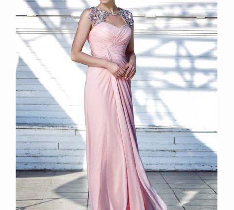 pembe abiye elbise