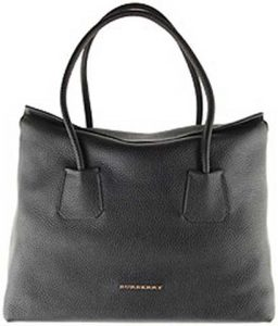 siyah deri çanta-burberry