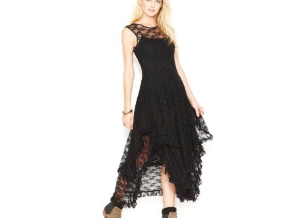 bohem tarzı dantel elbise