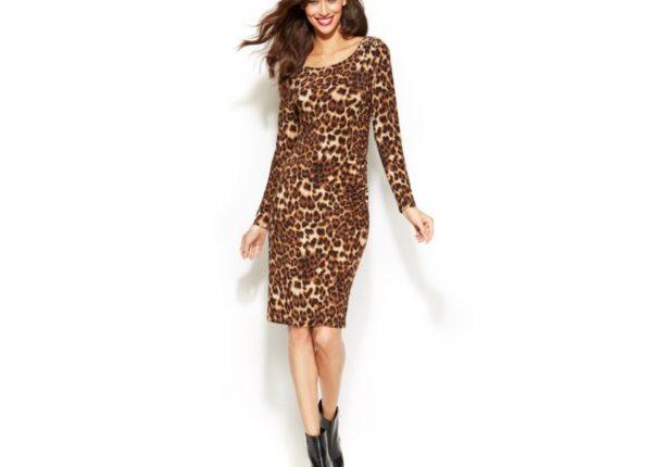 macys leopard dress