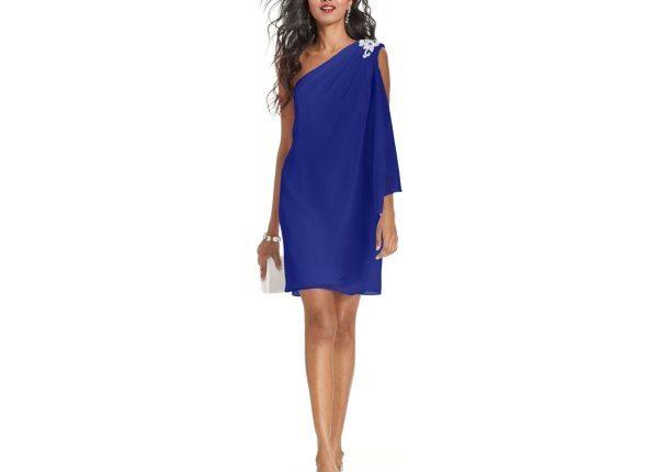 mavi kokteyl elbisesi