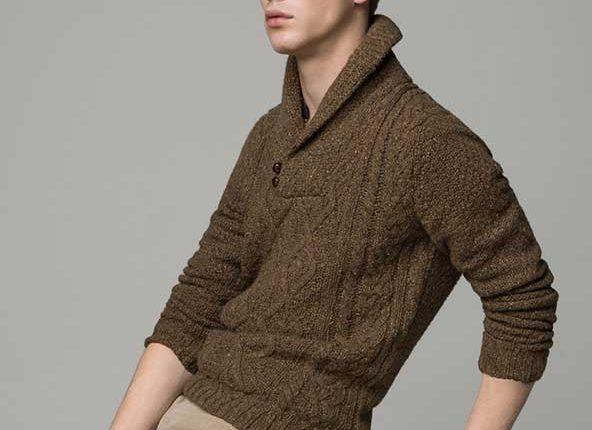 şal yaka erkek kazak modelleri