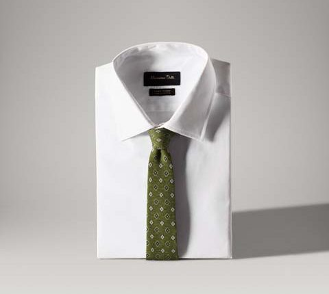 desenli yeşil kravat
