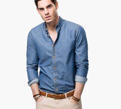 erkek jean gömlek modelleri
