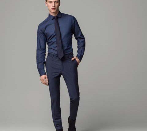 massimo dutti koyu mavi erkek pantolon