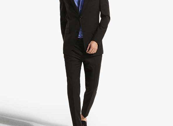 massimo dutti siyah yün blazer