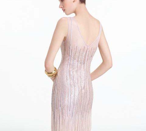 püsküllü kokteyl elbisesi modelleri