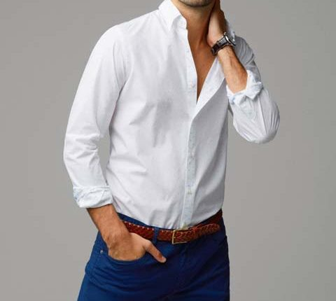 puantiyeli erkek gömlek