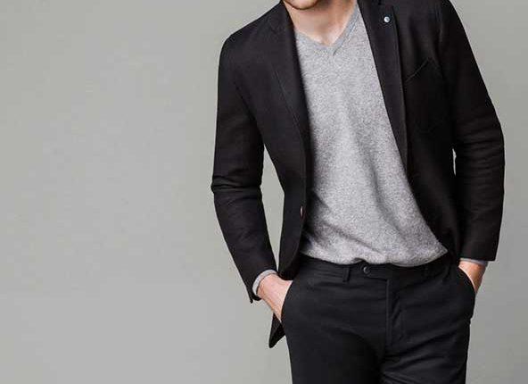 siyah erkek blazer-massimo dutti