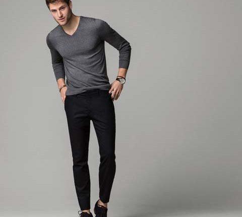 siyah flanel pantolon-massimo dutti