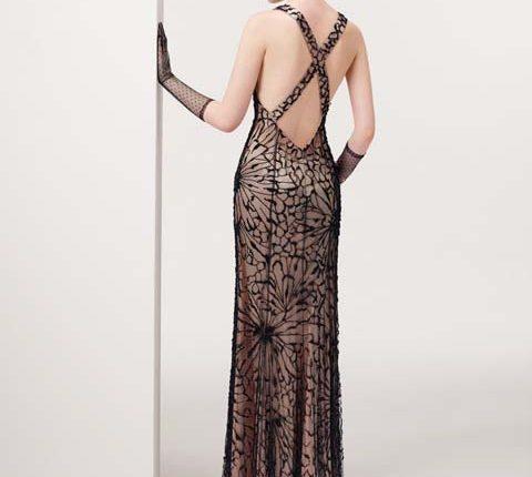 v yakalı uzun abiye elbise modelleri