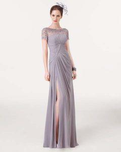 yırtmaçlı gece elbisesi
