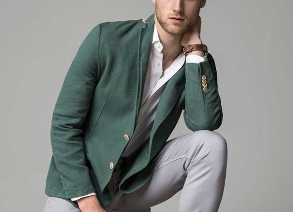 yeşil erkek blazer