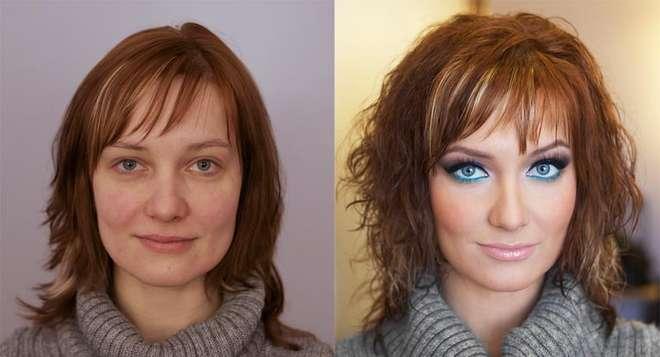 makyaj öncesi - makyaj sonrası