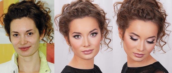 makyaj - öncesi ve sonrası