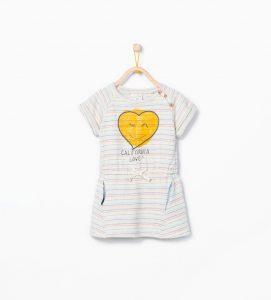 çizgili bebek elbisesi - zara