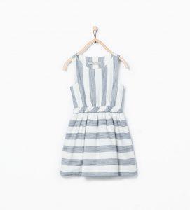 çizgili kız çocuk elbise