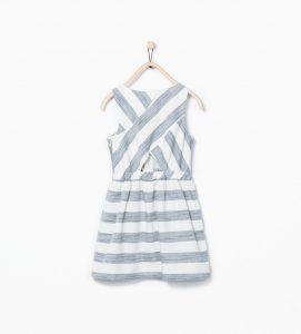 çizgili kız çocuk elbise - zara