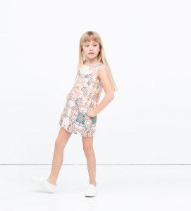 floral desenli çocuk elbisesi
