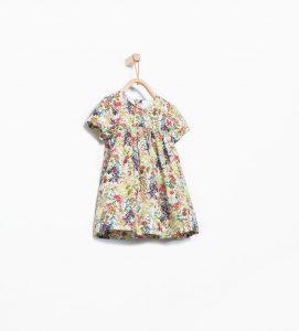 floral desenli kız bebek elbise