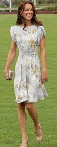 kate middleton - floral desenli elbise