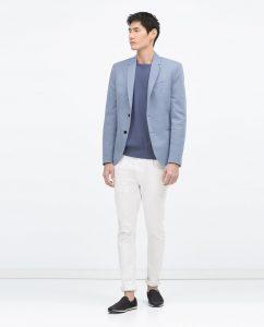 mavi erkek blazer modelleri