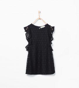 siyah dantel kız çocuk elbise