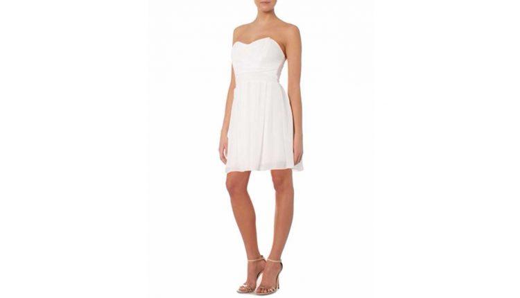 beyaz kokteyl elbisesi