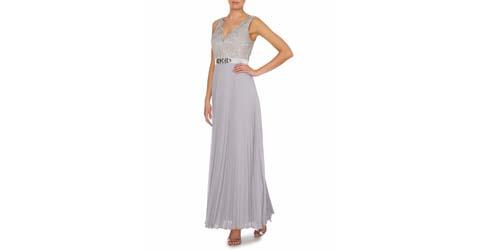 gri abiye elbise