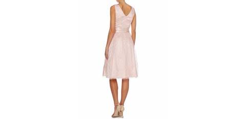 pembe kısa abiye elbise