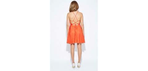 portakal rengi genç kız abiye