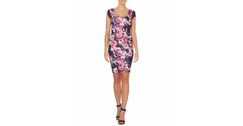 short floral cocktail dress