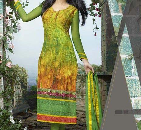 yeşil hint elbisesi