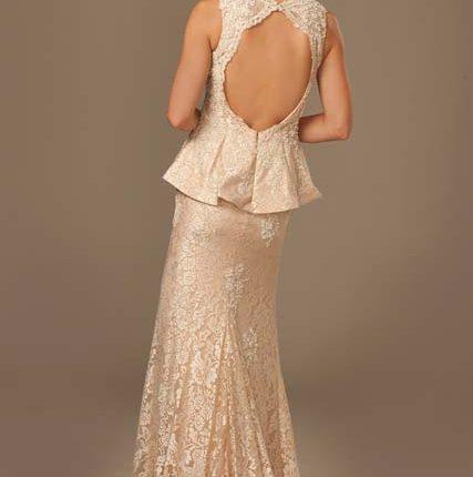 jovani peplum dantel elbise