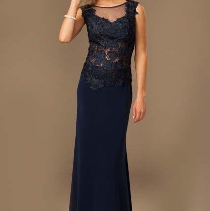 lacivert abiye elbise