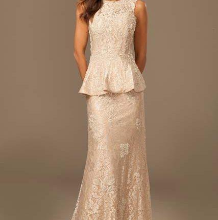 peplum dantel elbise