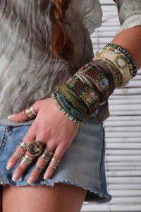 boho bracelets and rings