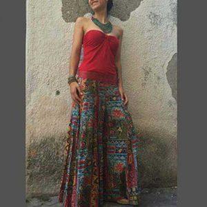 etnik desenli pantolon etek