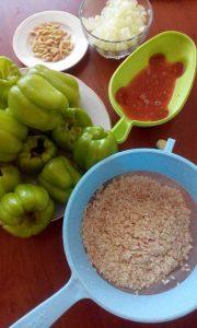 zeytinyağlı biber dolması malzemeler